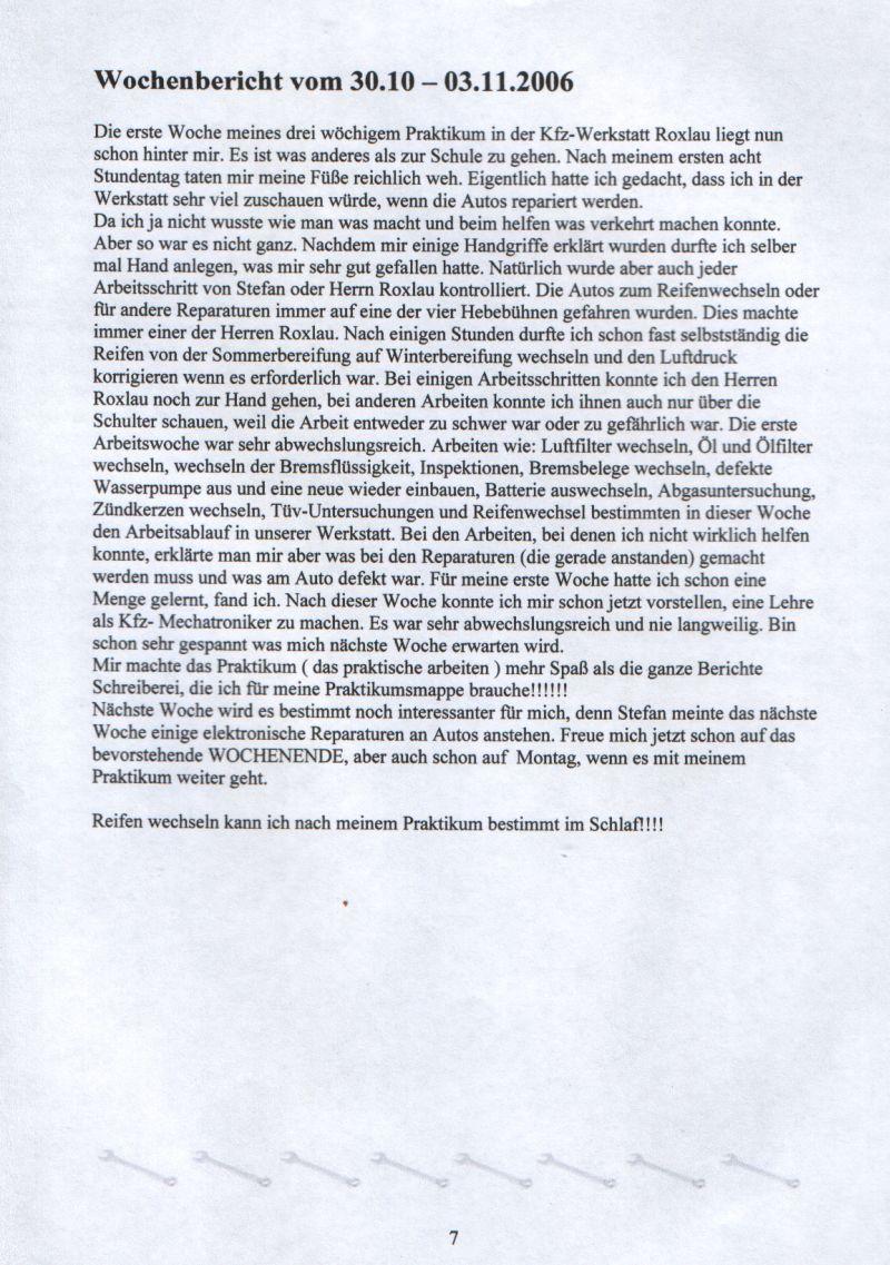 Groß Beispielwochenbericht Galerie - Bilder für das Lebenslauf ...